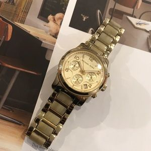 Michael Kors Gold & Ivory Watch